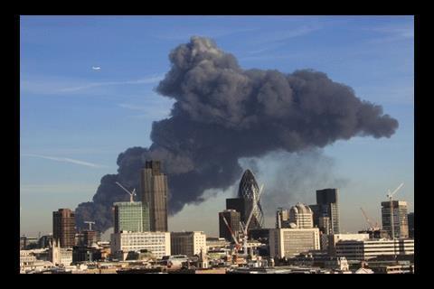 Smoke over Stratford